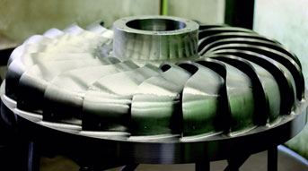 Figure 36: Turgo Turbine RunnerSource: Gilkes Hydropower Systems
