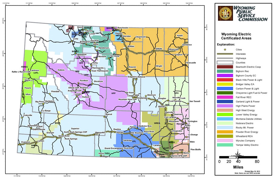 Figure 47: Wyoming's Electric Utility Service Areas